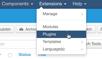 The Joomla 3 Plugin Manager