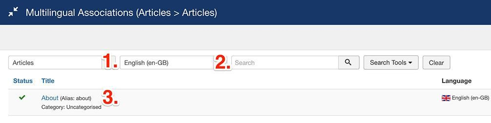 Multilingual Associations Articles