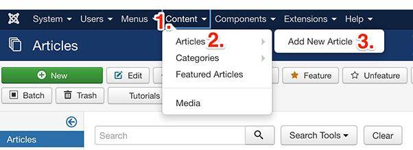 Add a new Joomla article