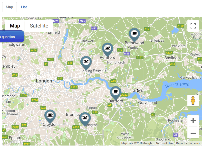 50 Custom Map Styles in Shack Locations Pro - Joomlashack