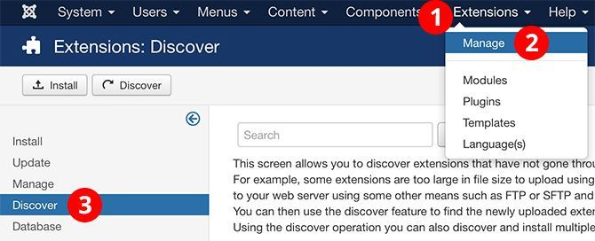 Install A Joomla Template Manually With Discover Joomlashack