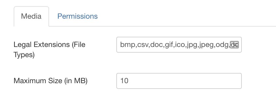 Joomla Legal File Types and Maximum Upload Size - Joomlashack