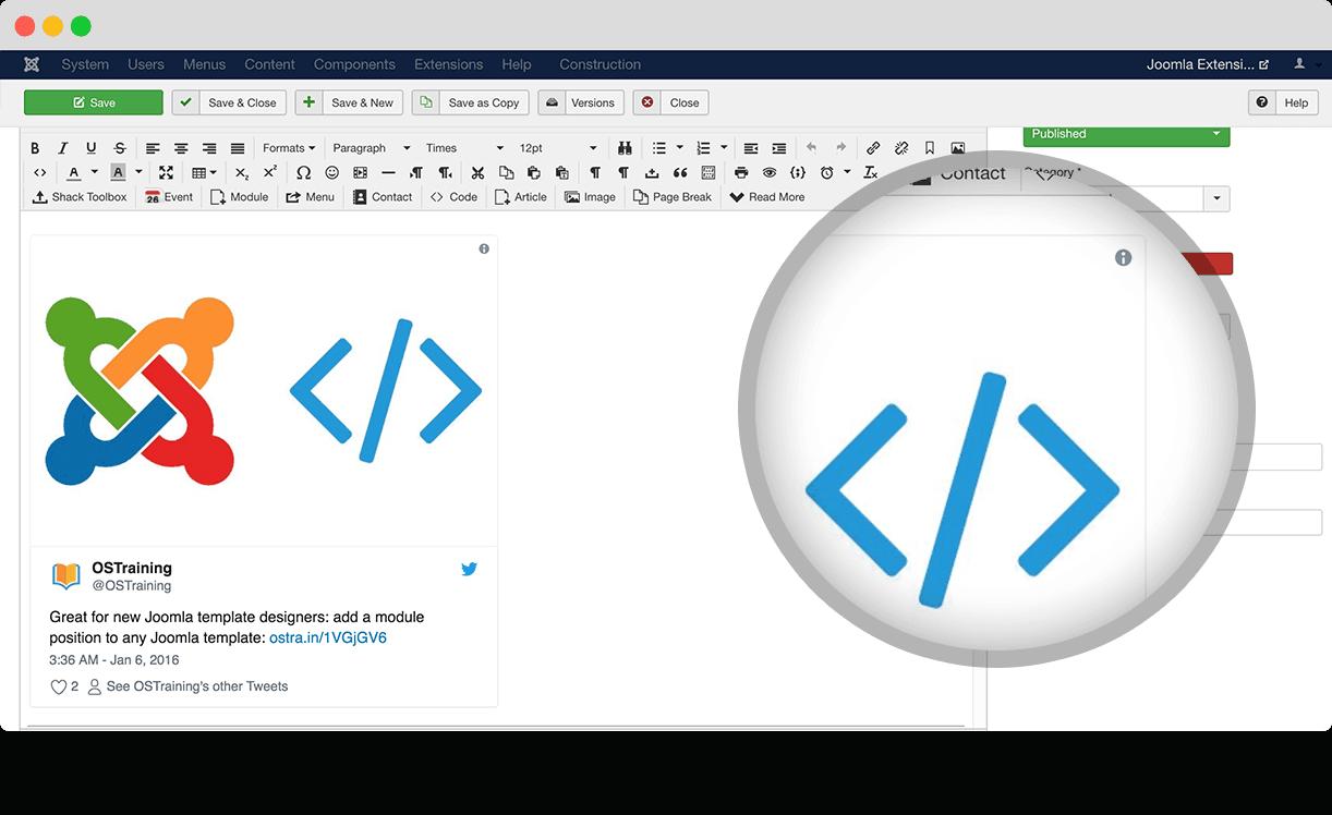 OSEmbed - Joomla embeds made easy! - Joomlashack