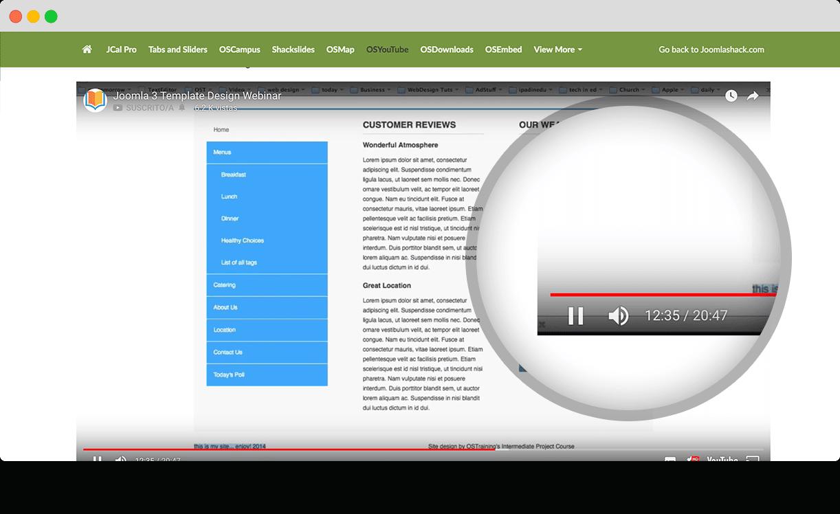 OSYouTube - The Best Joomla YouTube Extension - Joomlashack
