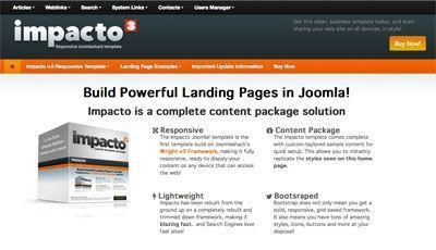 Impacto Is A Bestselling Responsive Landing Page Joomla Template - Joomla landing page template