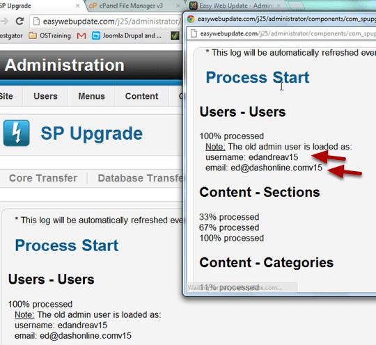 Migrate Joomla 1 5 to 2 5 with SP Upgrade - Joomlashack